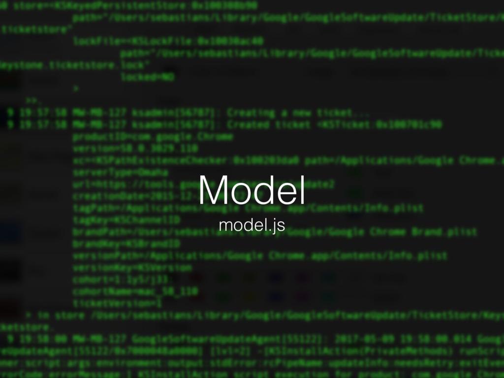 Model model.js
