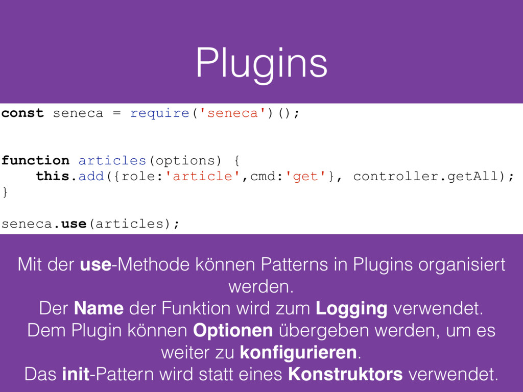Plugins Mit der use-Methode können Patterns in ...