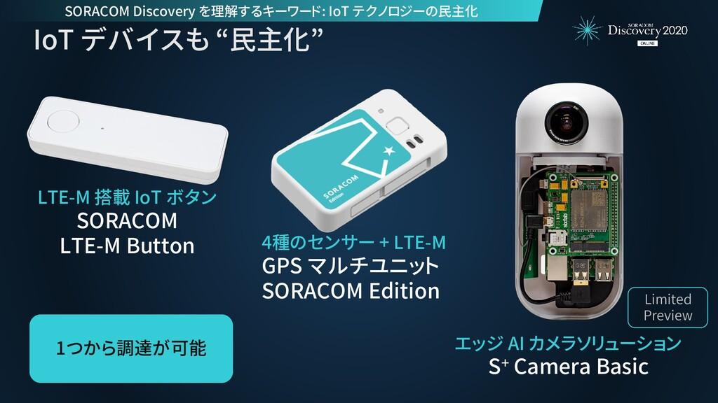 """IoT デバイスも """"民主化"""" エッジ AI カメラソリューション S+ Camera Bas..."""