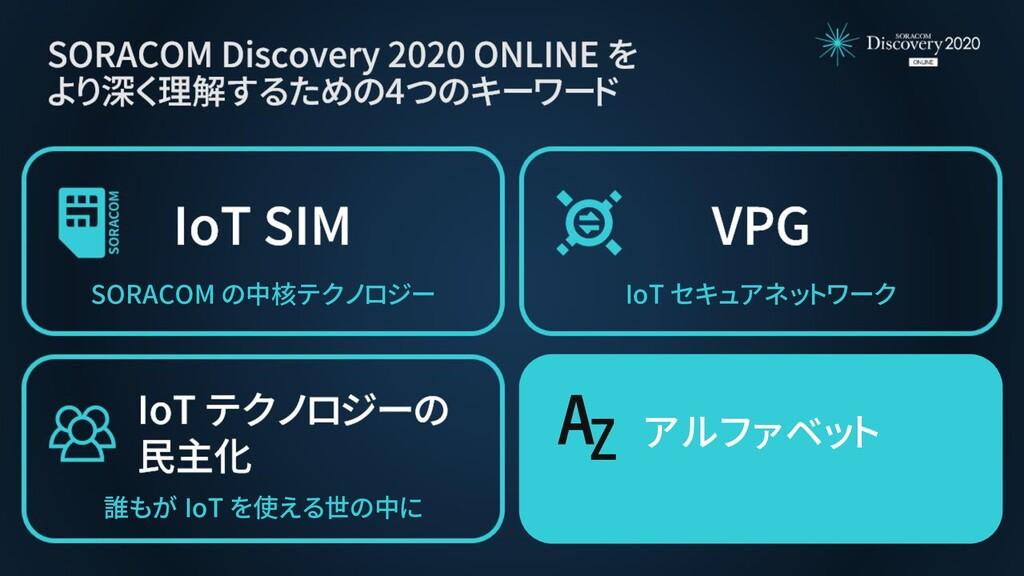 アルファベット AZ 誰もが IoT を使える世の中に SORACOM の中核テクノロジー I...