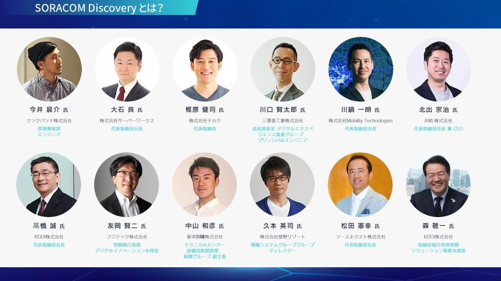 TODO Discovery 2020 ONLINE の 面々 SORACOM Discove...