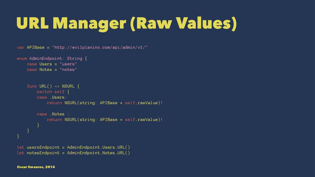 "URL Manager (Raw Values) var APIBase = ""http://..."