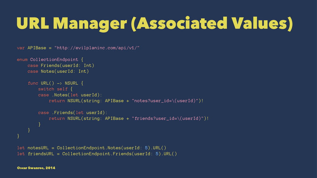 "URL Manager (Associated Values) var APIBase = ""..."