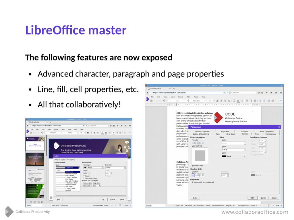 Collabora Productivity www.collaboraoffice.com ...
