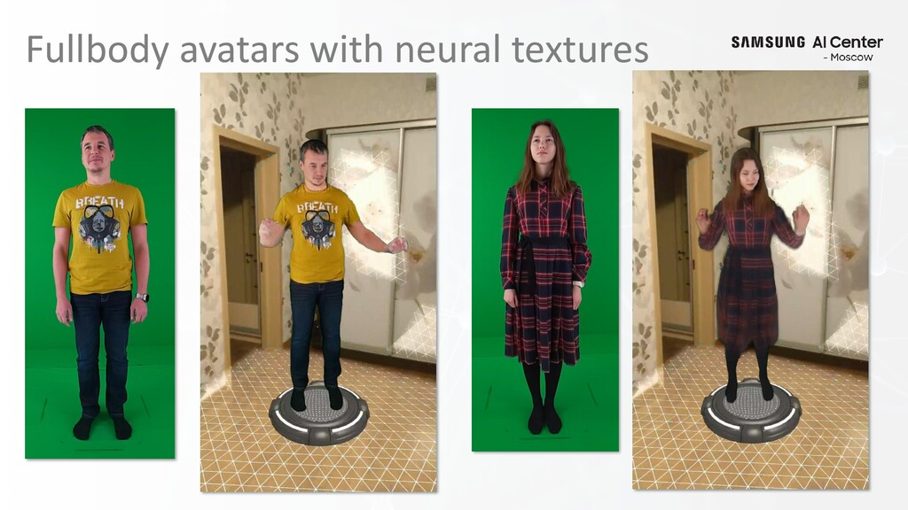 Fullbody avatars with neural textures