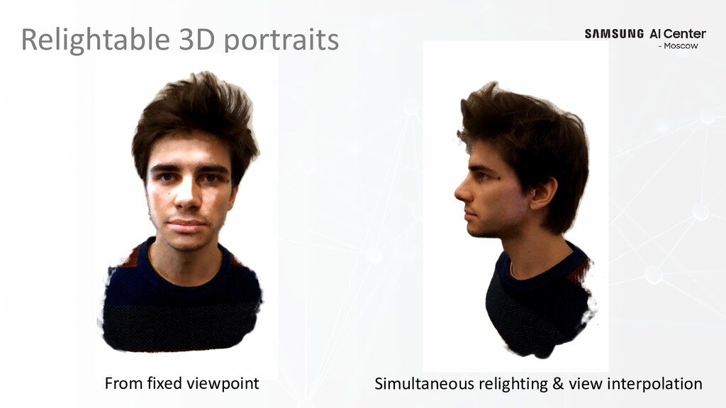 Relightable 3D portraits From fixed viewpoint S...