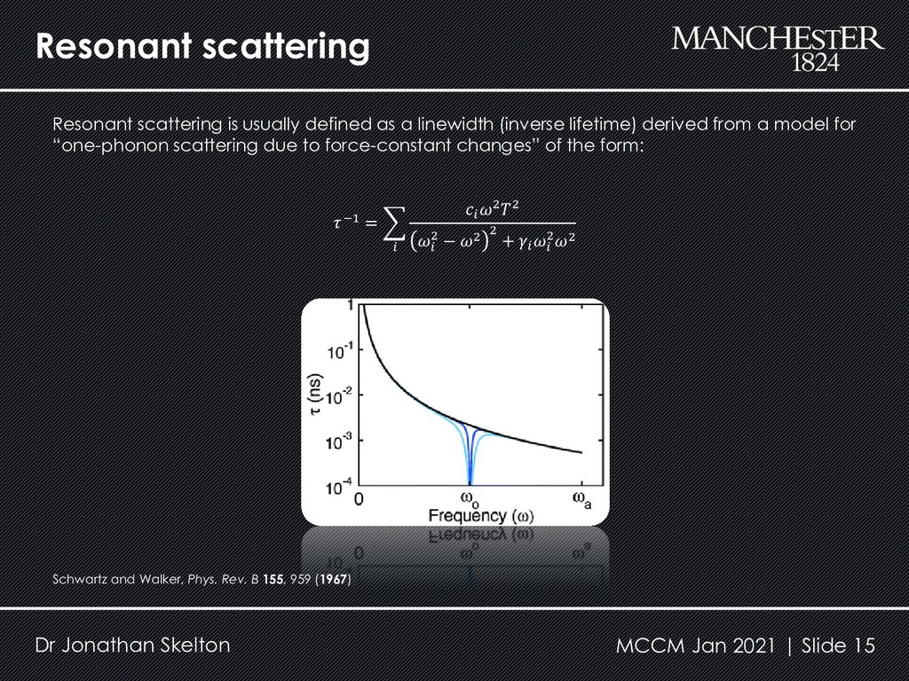 Resonant scattering Dr Jonathan Skelton Resonan...