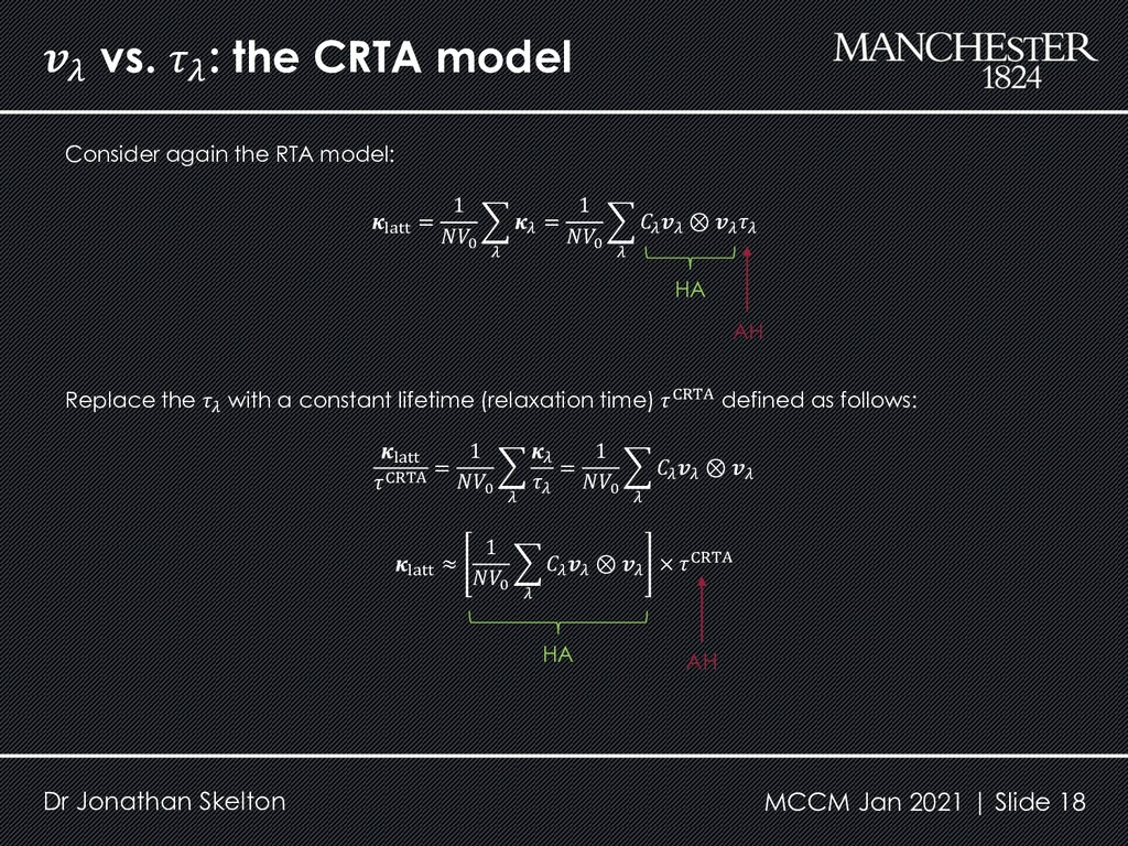 vs.  : the CRTA model Dr Jonathan Skelton Cons...