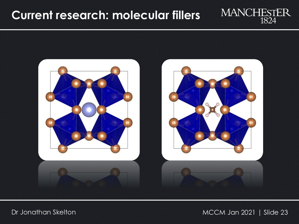 Current research: molecular fillers Dr Jonathan...
