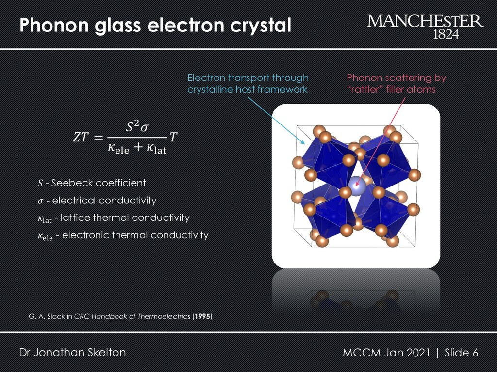 Phonon glass electron crystal Dr Jonathan Skelt...