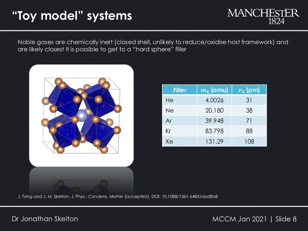"""Toy model"" systems Dr Jonathan Skelton Filler ..."