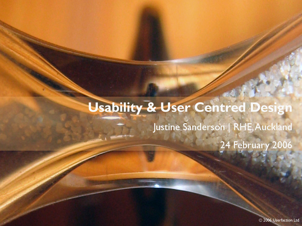 Intro Usability & User Centred Design Justine S...