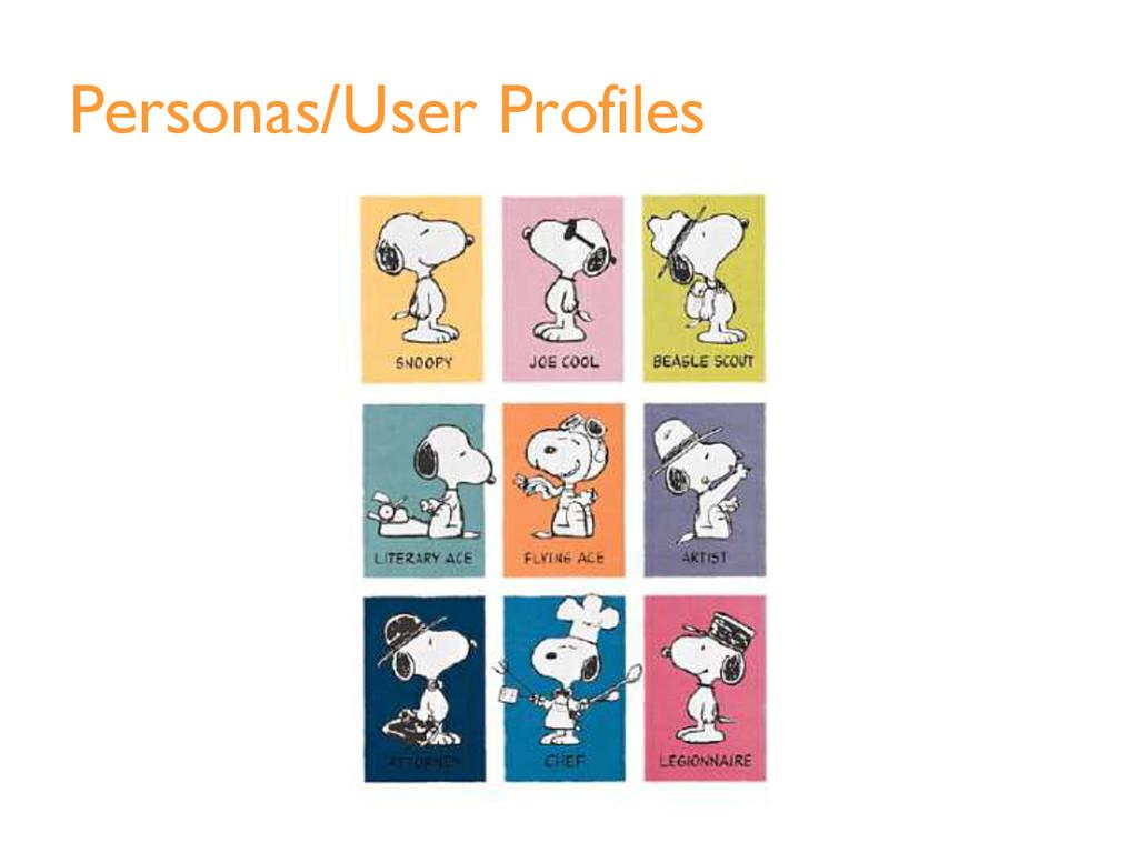 Personas/User Profiles