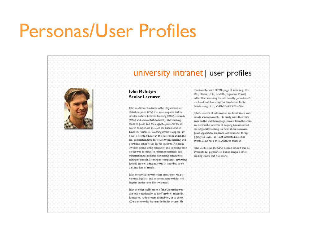 Personas/User Profiles