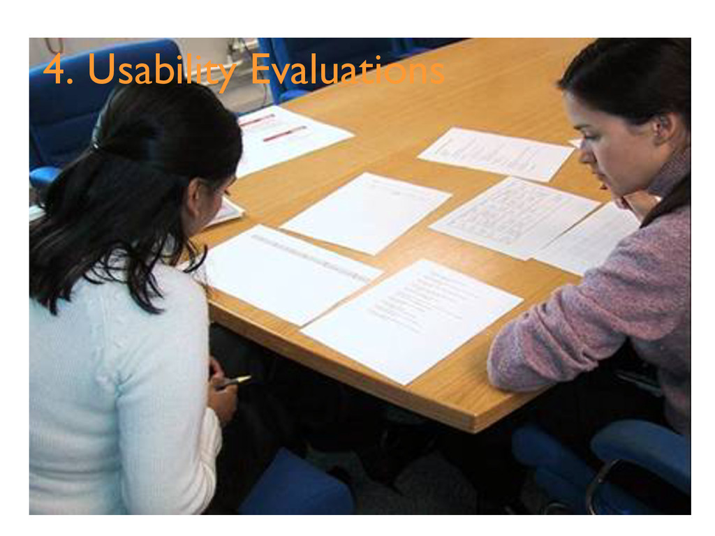 4. Usability Evaluations