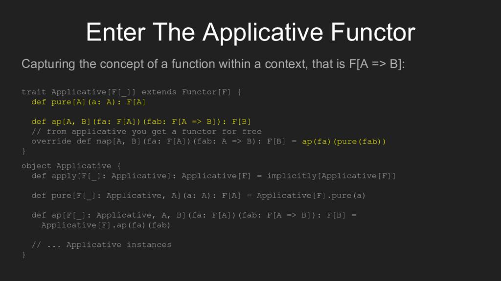 Enter The Applicative Functor Capturing the con...