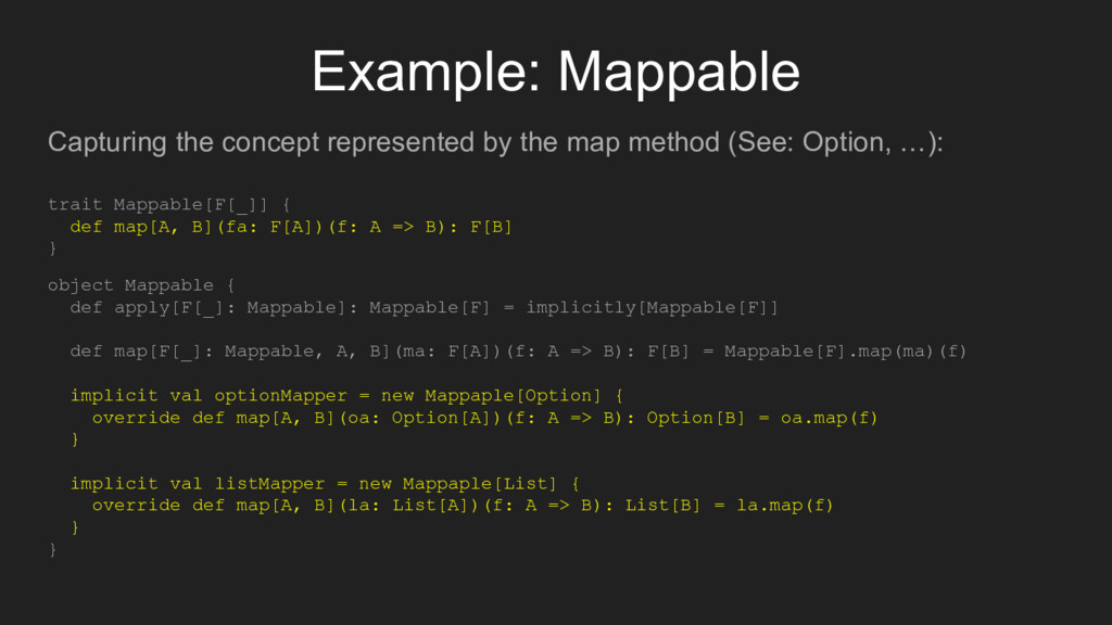 Example: Mappable Capturing the concept represe...
