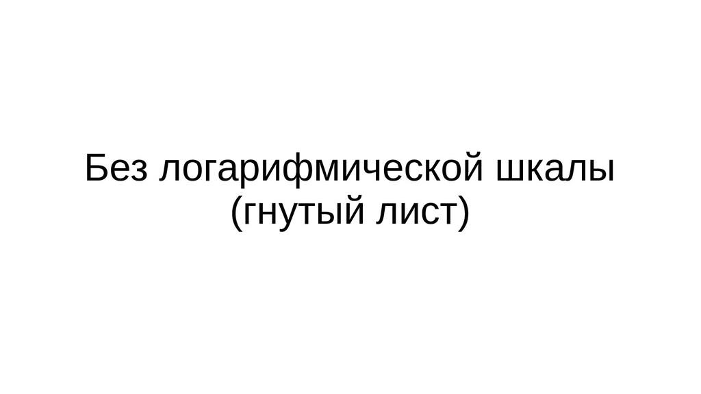 Без логарифмической шкалы (гнутый лист)