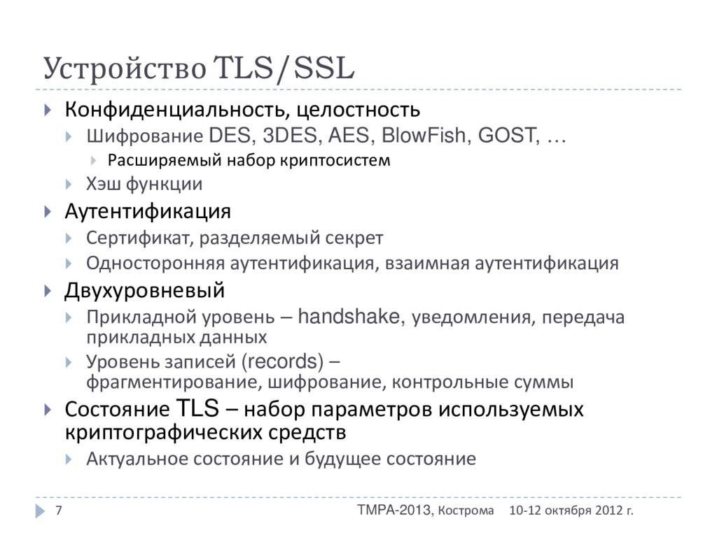 Устройство TLS/SSL 10-12 октября 2012 г. TMPA-2...