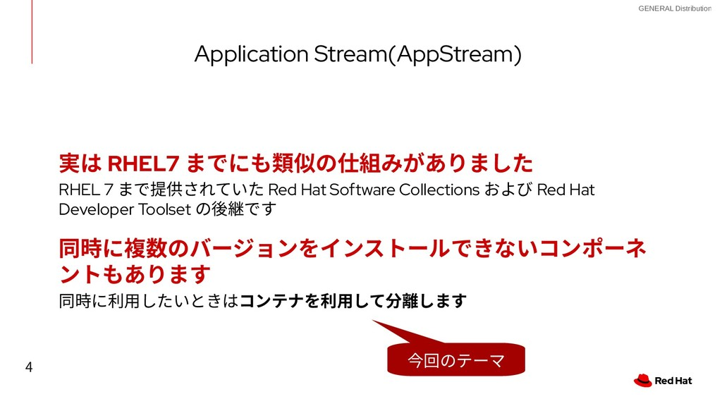 4 GENERAL Distribution Application Stream(AppSt...