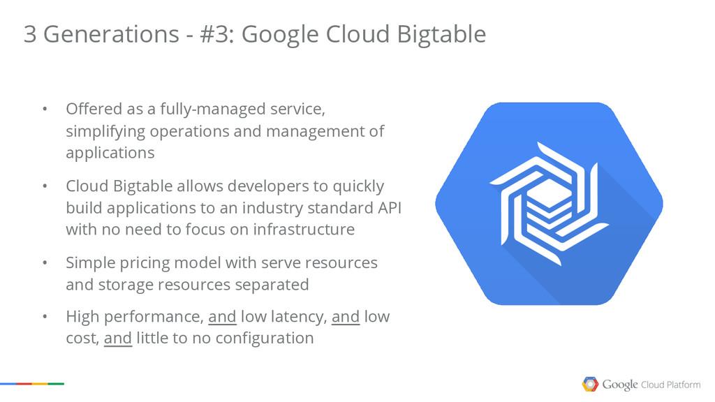 3 Generations - #3: Google Cloud Bigtable • Off...