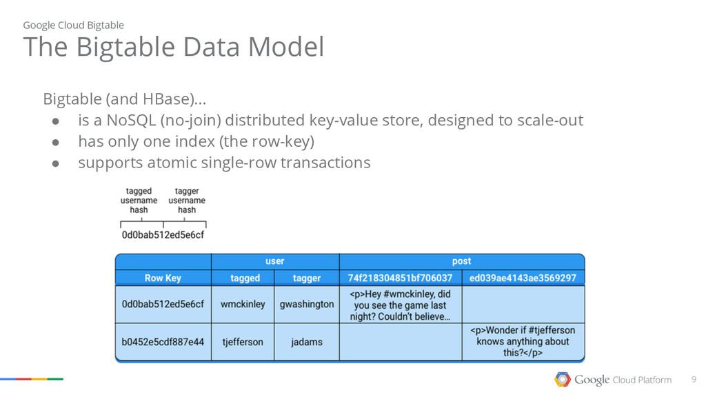 9 The Bigtable Data Model Google Cloud Bigtable...