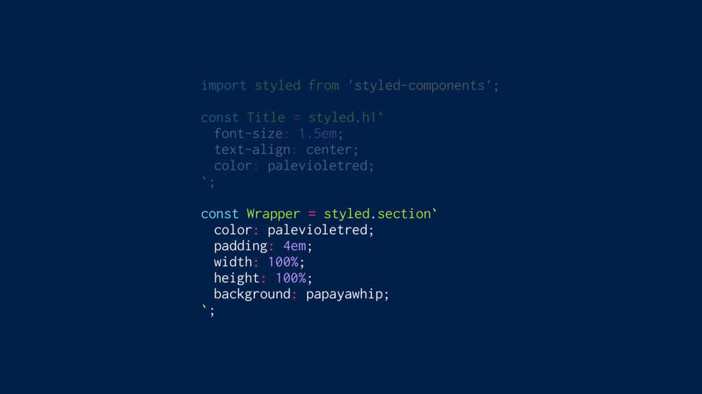 import styled from 'styled-components'; const T...
