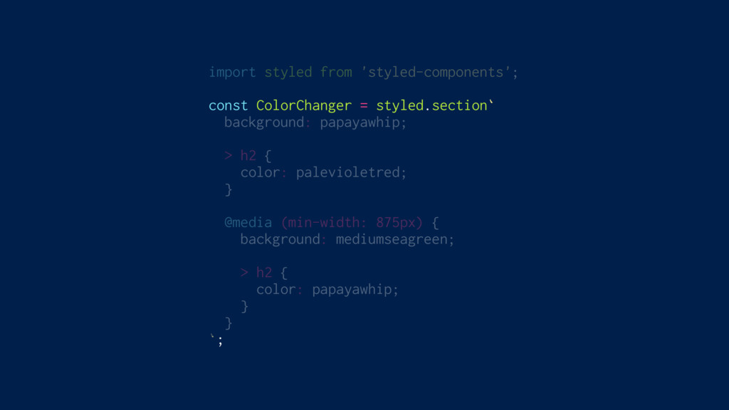 import styled from 'styled-components'; const C...
