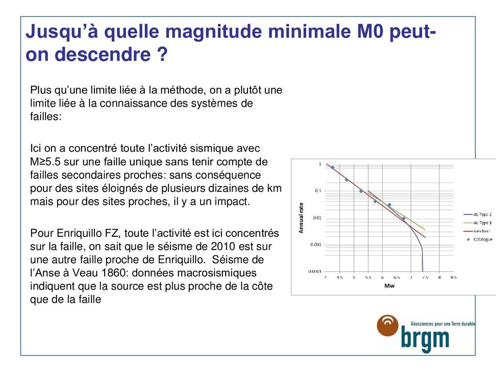 Jusqu'à quelle magnitude minimale M0 peut- on d...