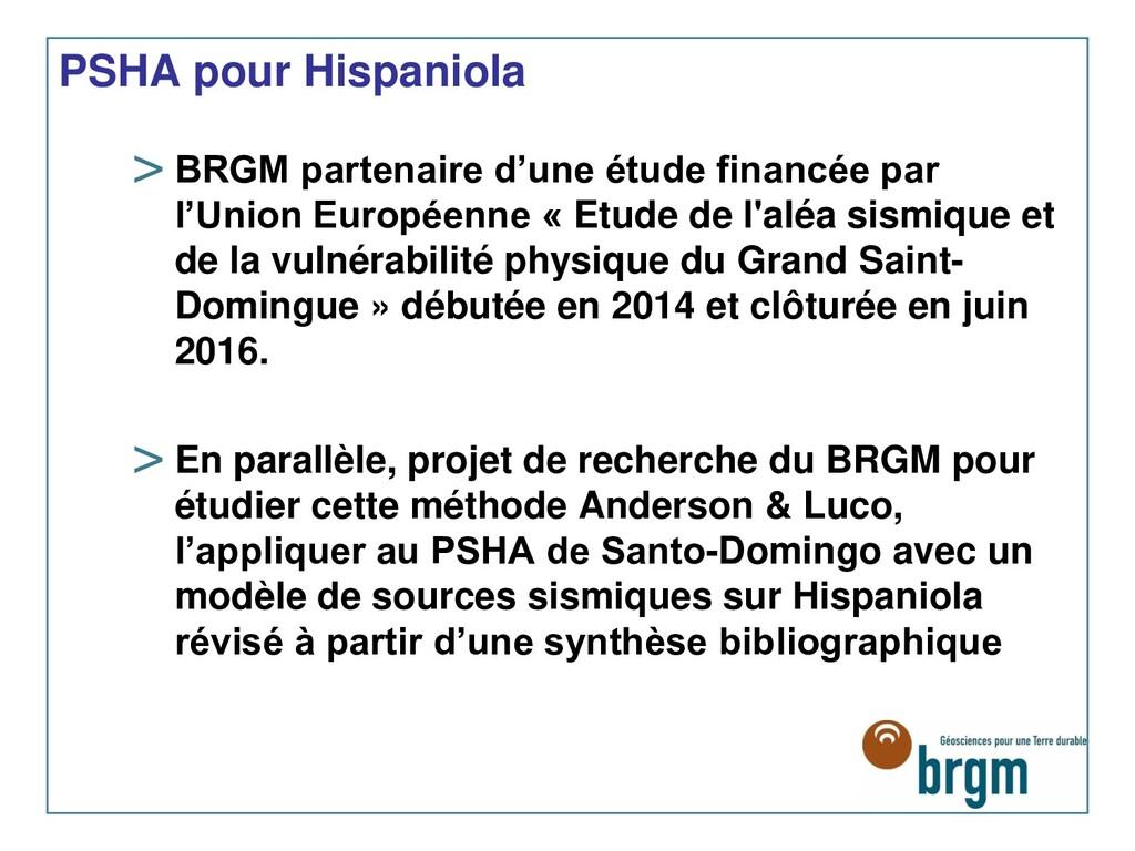 PSHA pour Hispaniola > BRGM partenaire d'une ét...
