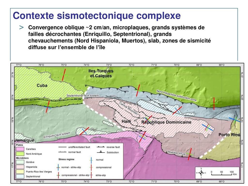 Contexte sismotectonique complexe > Convergence...
