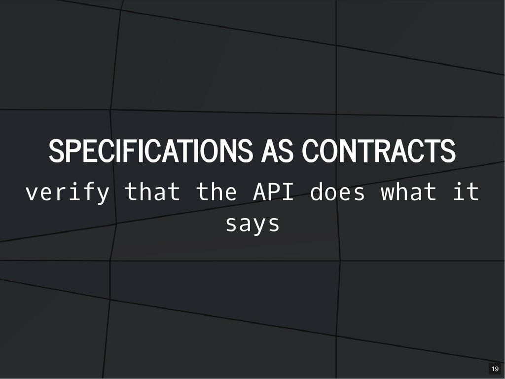 SPECIFICATIONS AS CONTRACTS SPECIFICATIONS AS C...