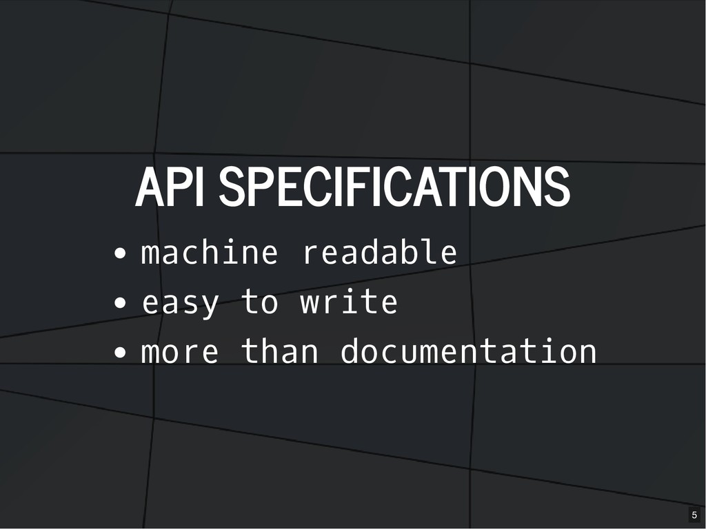 API SPECIFICATIONS API SPECIFICATIONS machine r...