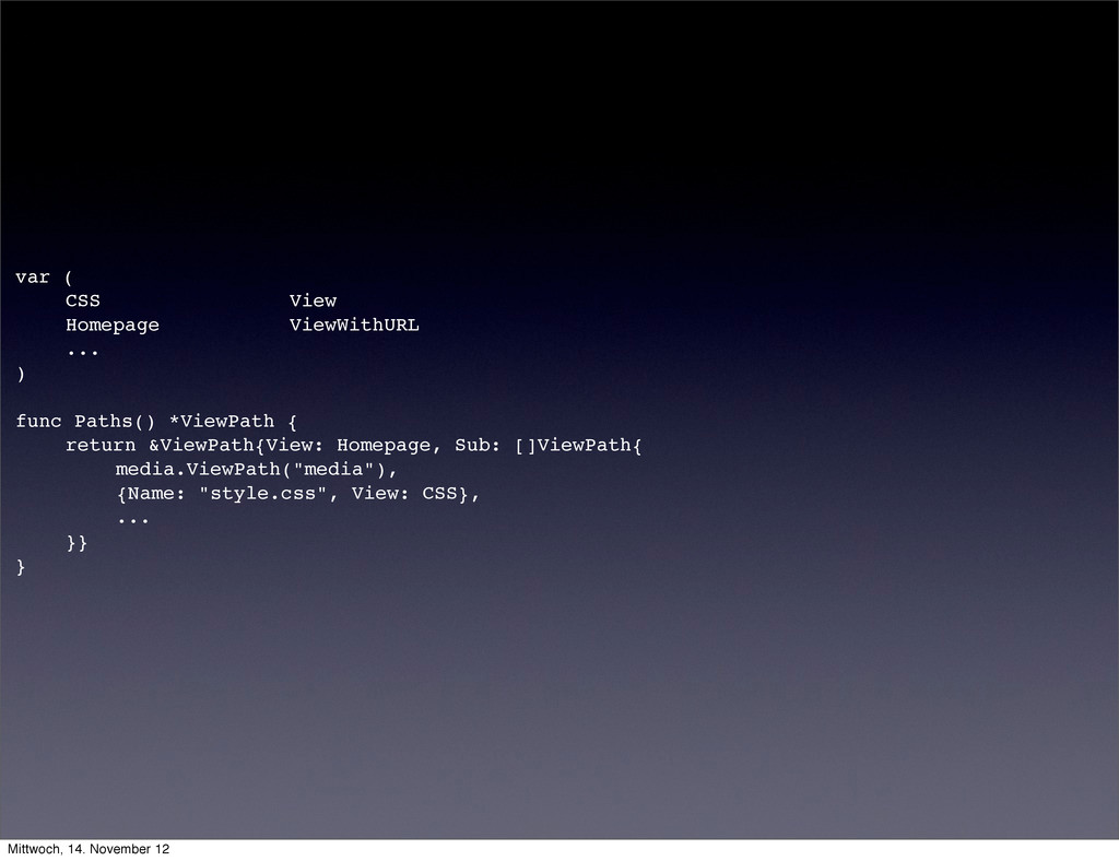 var ( ! CSS View ! Homepage ViewWithURL ! ... )...