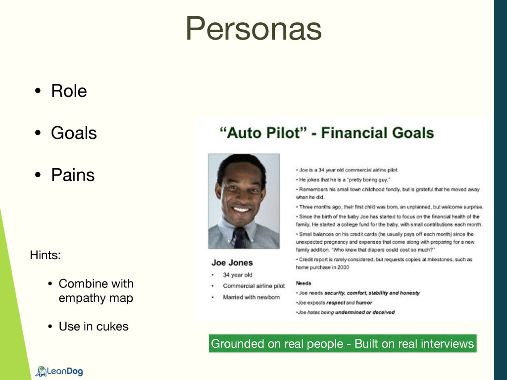 Personas Grounded on real people - Built on rea...