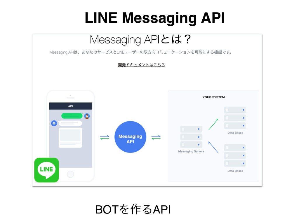 LINE Messaging API BOTΛ࡞ΔAPI
