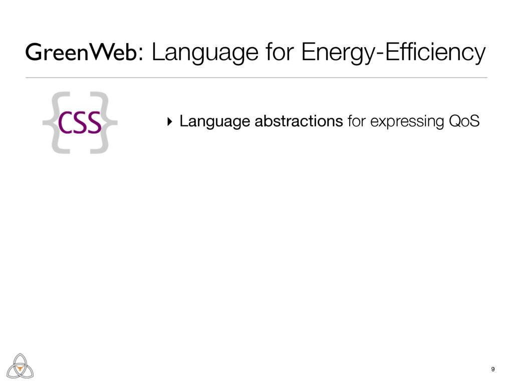 9 GreenWeb: Language for Energy-Efficiency ▸ Lan...