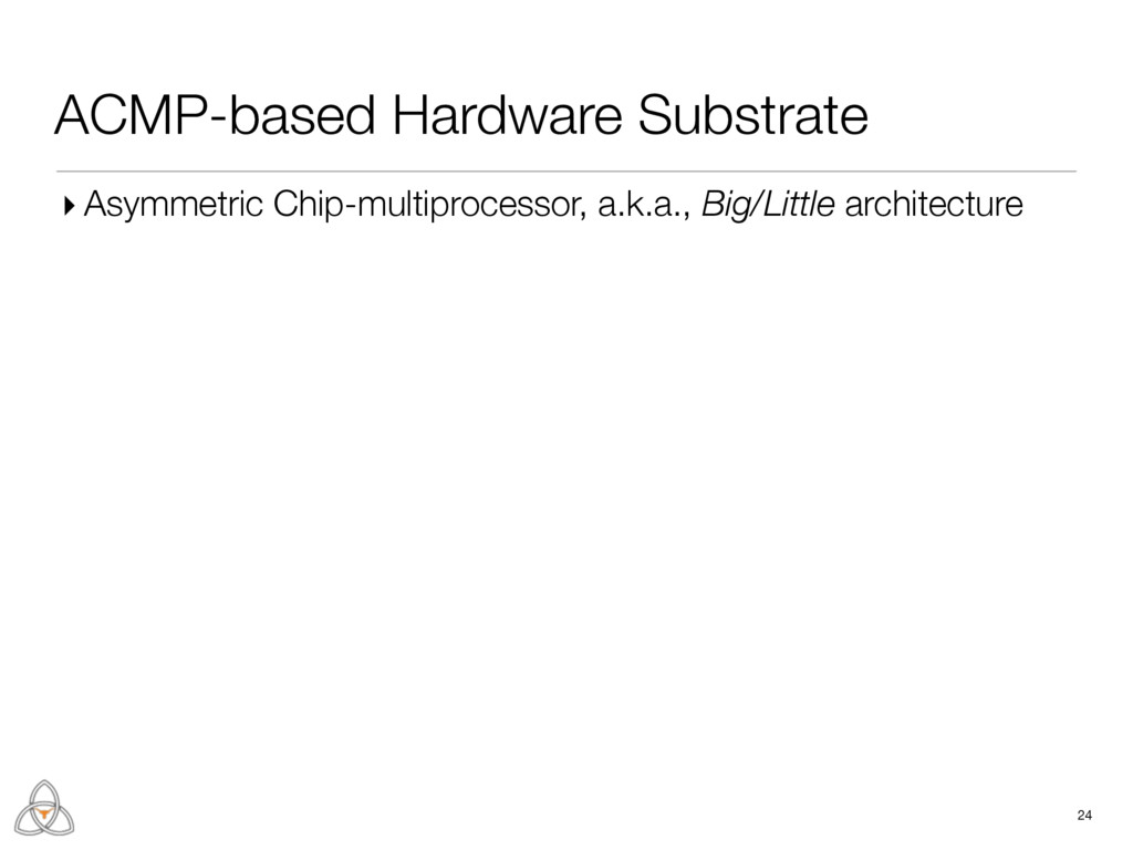 ACMP-based Hardware Substrate 24 ▸ Asymmetric C...