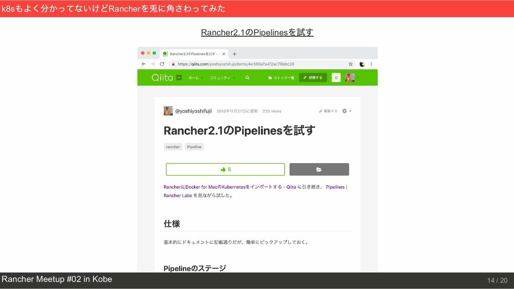 Rancher2.1 のPipelines を試す k8s もよく分かってないけどRanche...