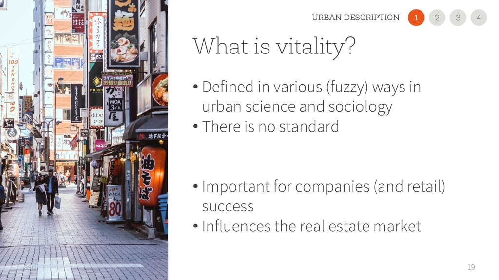 What is vitality? • Defined in various (fuzzy) ...