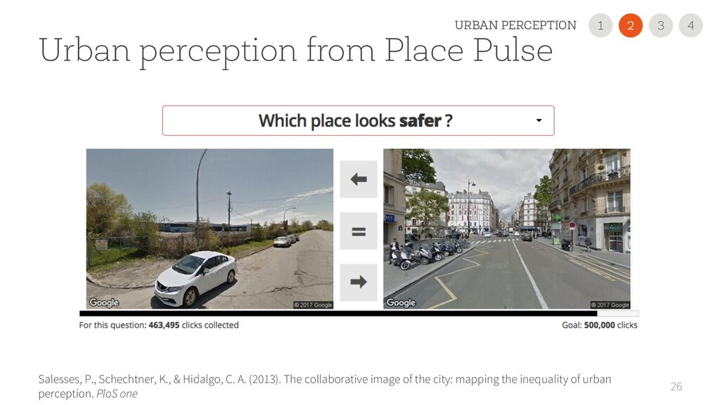 26 Urban perception from Place Pulse Salesses, ...