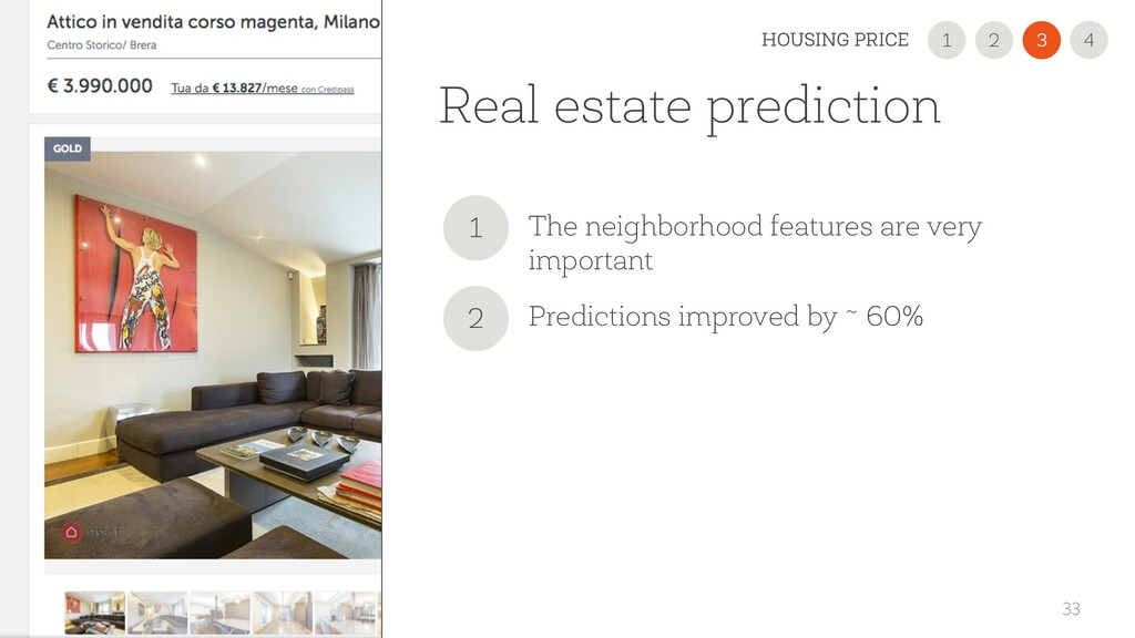 Real estate prediction 33 2 1 3 HOUSING PRICE 4...
