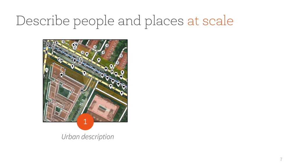7 Describe people and places at scale Urban des...