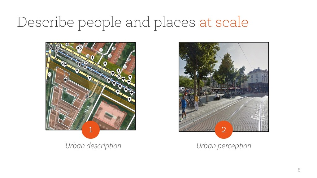 8 Describe people and places at scale Urban des...