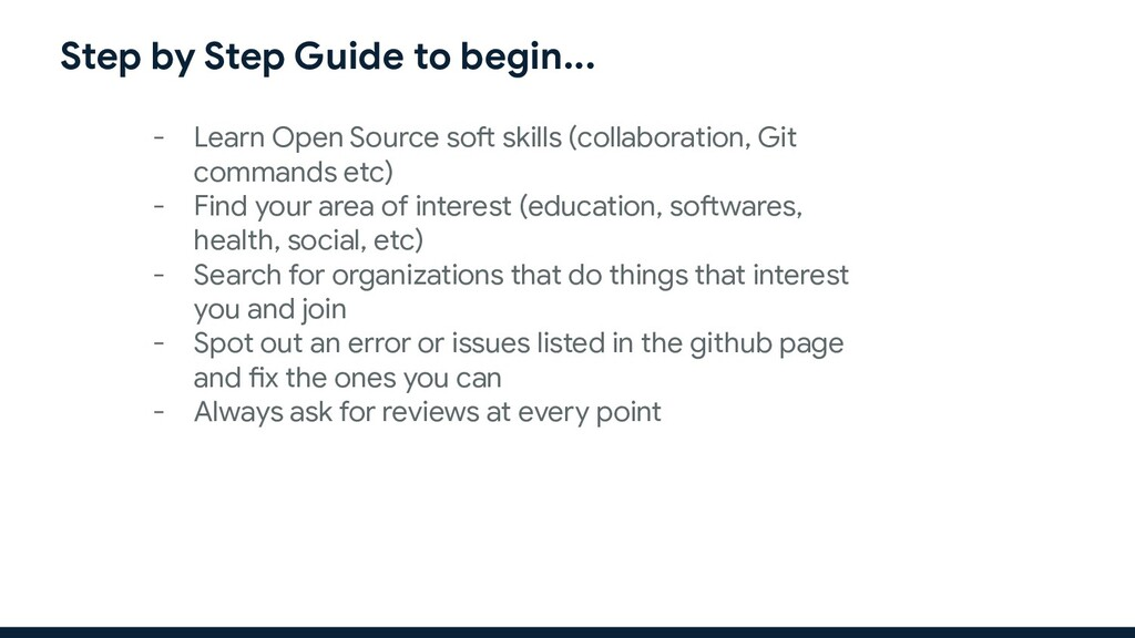 Step by Step Guide to begin... - Learn Open Sou...