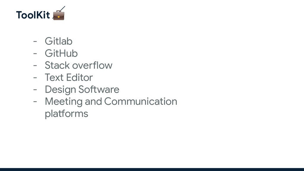 ToolKit  - Gitlab - GitHub - Stack overflow - T...