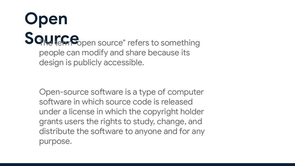"""Open Source The term """"open source"""" refers to so..."""