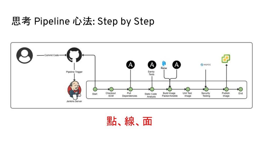 思考 Pipeline 心法: Step by Step 點、線、面