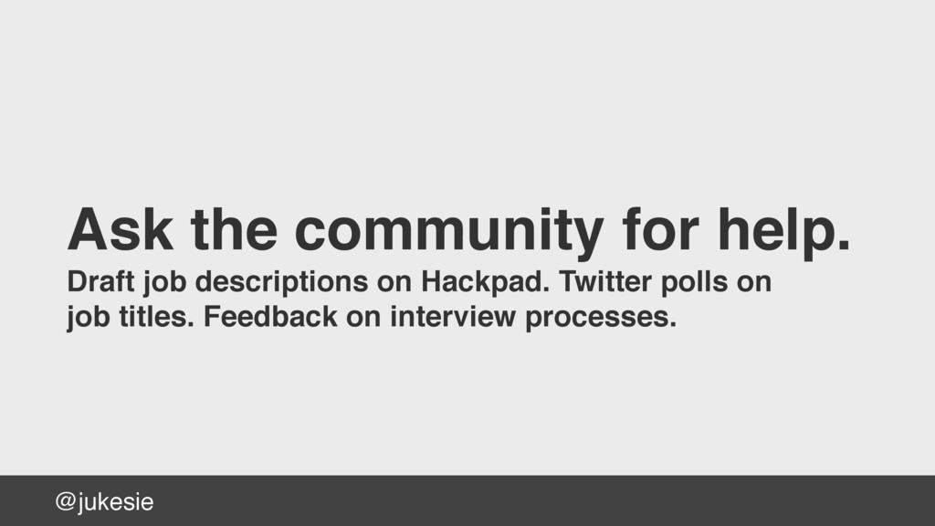 @jukesie Ask the community for help. Draft job ...
