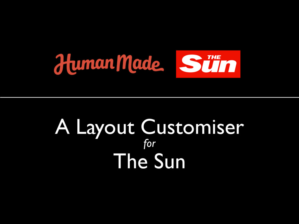 A Layout Customiser for The Sun